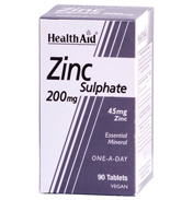 HealthAid Zinc Sulphate 200mg 90 tablets