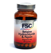 Betaine Hydrochloride & Pepsin
