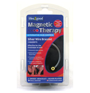 Magnetic Therapy Silver Bangle L-XL