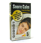 Snore Calm Foam Ear Plugs 5 Pairs