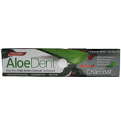 Aloe Dent Triple Action Activated Charcoal Fluoride-Free Toothpaste