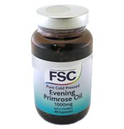 Pure Cold Pressed Evening Primrose Oil 1000mg with Vitamin E