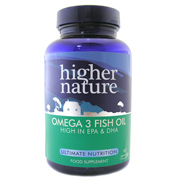 Higher Nature Fish Oil Omega 3 180 Capsules