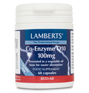 Lamberts Co Enzyme Q 10 100mg 60 Capsules