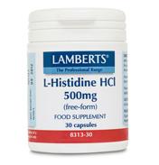 Lamberts L-Histidine 500mg 30 Capsules