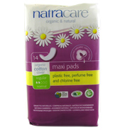 Natracare Natural Maxi Pads Regular 14 Pack