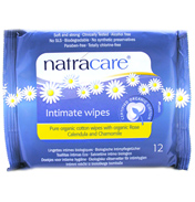 Natracare Organic Feminine Wipes 12 pack