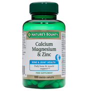 Nature's Bounty Calcium, Magnesium & Zinc…