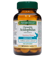 Nature's Bounty Chewable Acidophilus with B.…