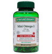 Nature's Bounty Mini Omega 3 450mg EPA/DHA 60…
