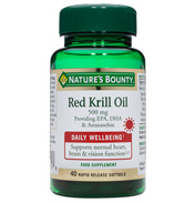 Nature's Bounty Red Krill Oil 500mg 40 Rapid…