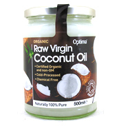 Optima Health Organic Raw Virgin Coconut Oil 500ml