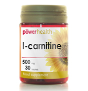Power Health L-Carnitine 500mg 30 Tablets