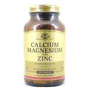 Solgar Calcium Magnesium plus Zinc 250 tablets